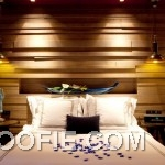 White King Size Bed Indigo Pearl Hotel Bedroom Twin Chandelier