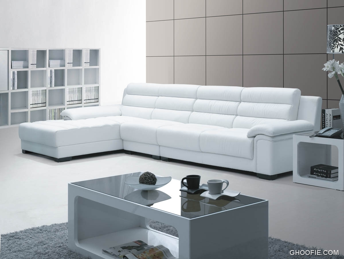 White modern leather sofa interior design ideas for Modern white furniture