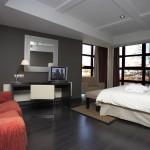 Stylish gray bedroom