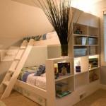 Amazing White Children Bunk Bed