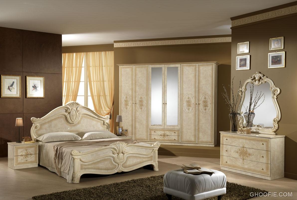 Antique Dressing Table Classic Bed Italian Bedroom Furniture Interior Design Ideas
