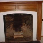 Antique Woodframe Fireplace Old Cooking Fireplace Crane Design