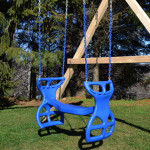 Awesome Blue Glider Swings For Playsets Green Grass
