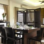 Black-Dining-Room-Design-Ideas-with-Unique-Dining-Sets-and-Ceiling-Fan