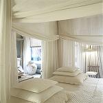 Charming White Interior Design Blog Artisti Pillow and Curtain