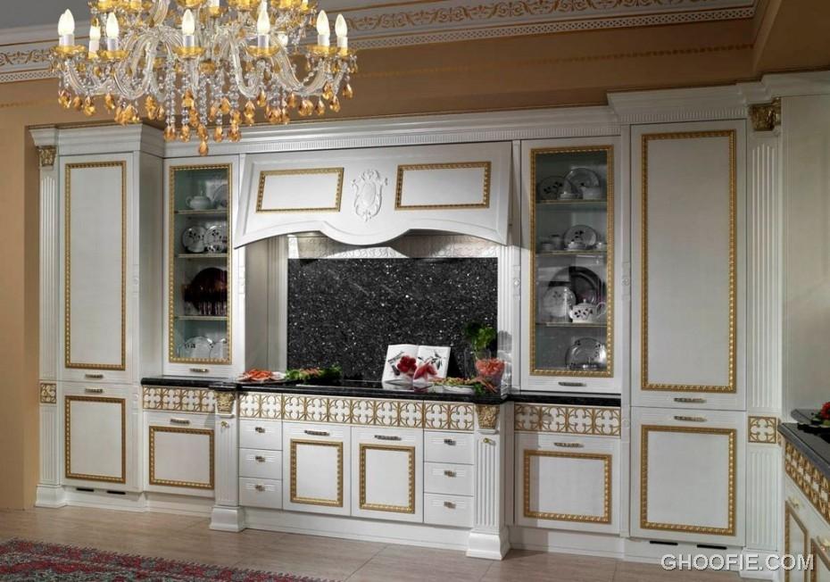 classic italian kitchen design crystal chandelier dark