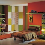 Colorful Modern style Home Interior Marble Floor Bedroom