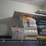 Colorful Towel Storage White Wallbar Metallic Floating Shelf