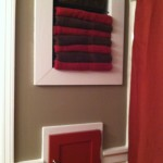 Elegant bathroom towels storage