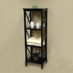 Simple classic dark wood towel storage