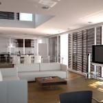 Elegant Modern White Sofa Wood Coffee Table Home Interior Living Room