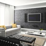 Extravagnt Home Interior Black Floral Art Wall Decor Gray Contemporary Sofa