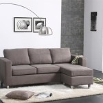 Fabulous Contemporary Gray Color Small Sectional Sofa Design