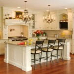 Fabulous Small Kitchen Island Ideas Wooden Floor Accents Luxury Chandelier
