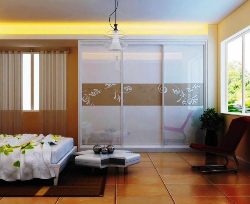 Floral Design Closet Door - Interior Design Ideas