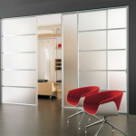 Futuristic Glass Sliding Closet Door
