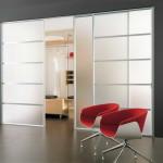 Futuristic Glass Sliding Closet Door
