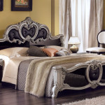 Glossy Bed Headboard Antique Table Lamps Italian Bedroom Furniture