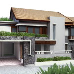 Gorgeous Modern Style Gray Exterior House Design Ideas