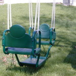 Green Glider Swings For Playsets For Double Stable Rope