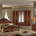 Inspiring Italian Bedroom Furniture Lacquered Wood Wardrobe Fake Flower