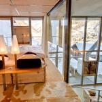 Loft bedroom - Rustic wood bed frame