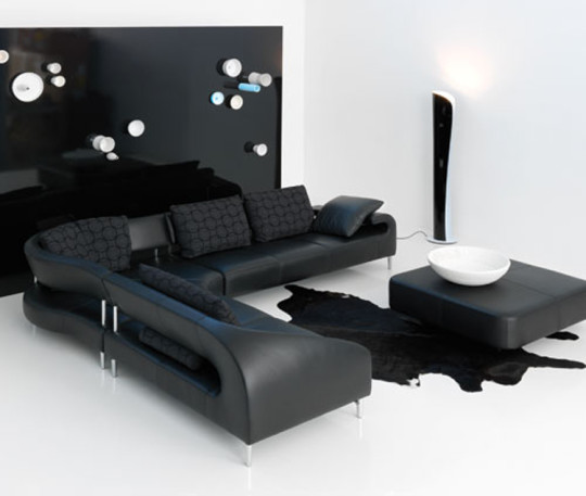 Luxury-Black-Leather-Sofa-Design-in-White-and-Black-Room-Design-Ideas