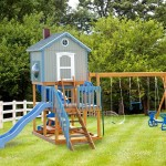 Minimalist Child Playsets Blue Glider Swings For Playsets Large Lawn