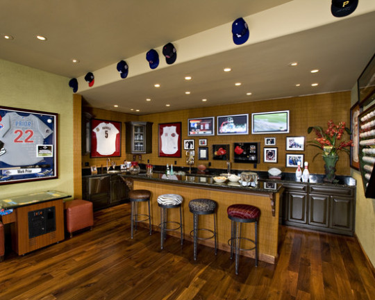 Bar in basement idea and design