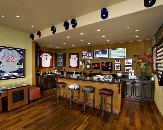 Bar in basement idea and design