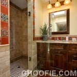 Modern Bathroom Design Trevertine Tile Wall Bathroom Mission