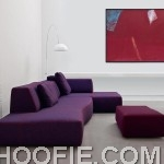 Modern purple sofa