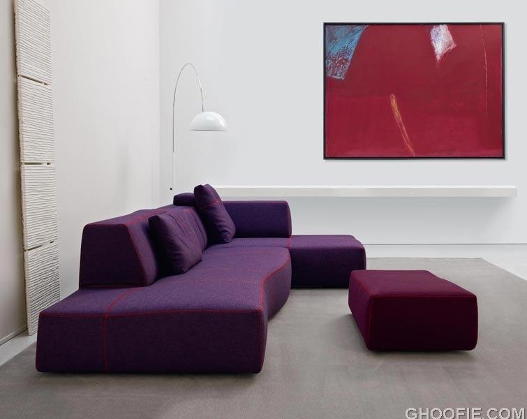 Modern purple sofa