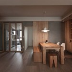 Natural-modern-decor-dining-room-with-wooden-table-and-unique-lamp