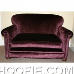 New Purple Velvet Small sofa