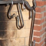 Old Iron Hook Bricked Firelace Classic Cooking Fireplace Crane