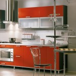 Orange Kitchen Cabinet Modern Italian Kitchen Design Small Kitchen Table