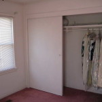 Simple sliding door closet