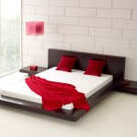 Red Square Pendant Lamp Modern Bed