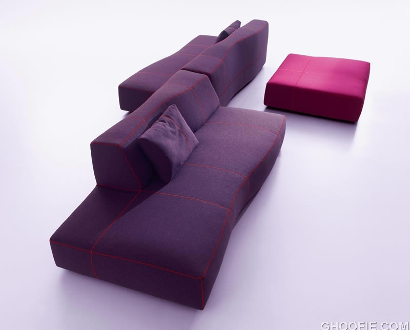 Sectional Purple Sofas Furniture Design