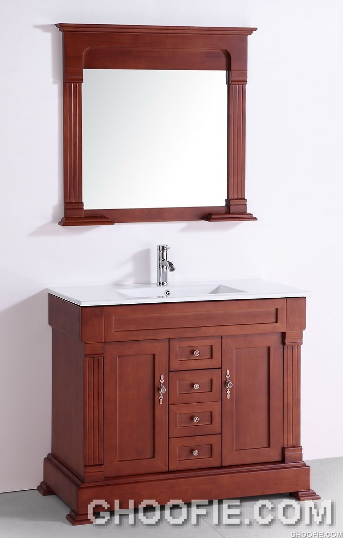 Simple Minimalist Bathroom Mission Painted Wood Material White Counter
