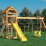 Simple Playground Set Yellow Glider Swings For Playsets Green Lawn
