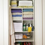 Simple White Towel Storage Closet
