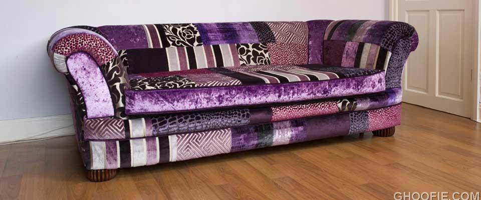 Slide purple haze sofa