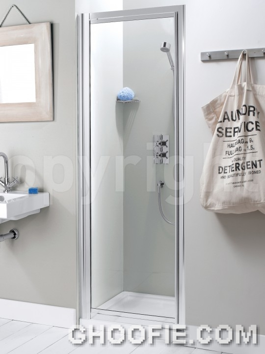 Small Bathroom Design Stainless Frame Glass Reliability Door Design