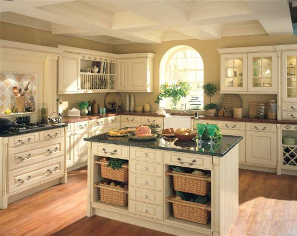 Small kitchen island ideas classic style granite for Small kitchen designs with island