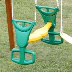 Stunning Child Glider Swings For Playsets Design Yellow Green Color