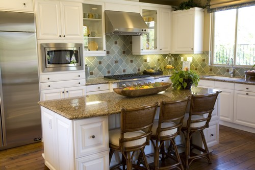 Stunning small kitchen island ideas granite countertops for Small kitchen granite countertops
