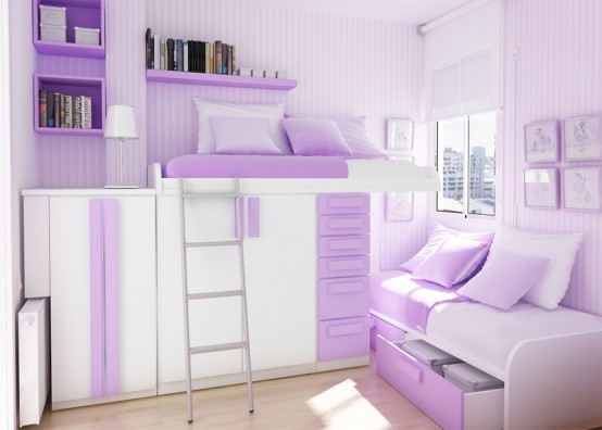 Teenage Purple Girl Bedroom