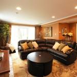 Living room design for basement